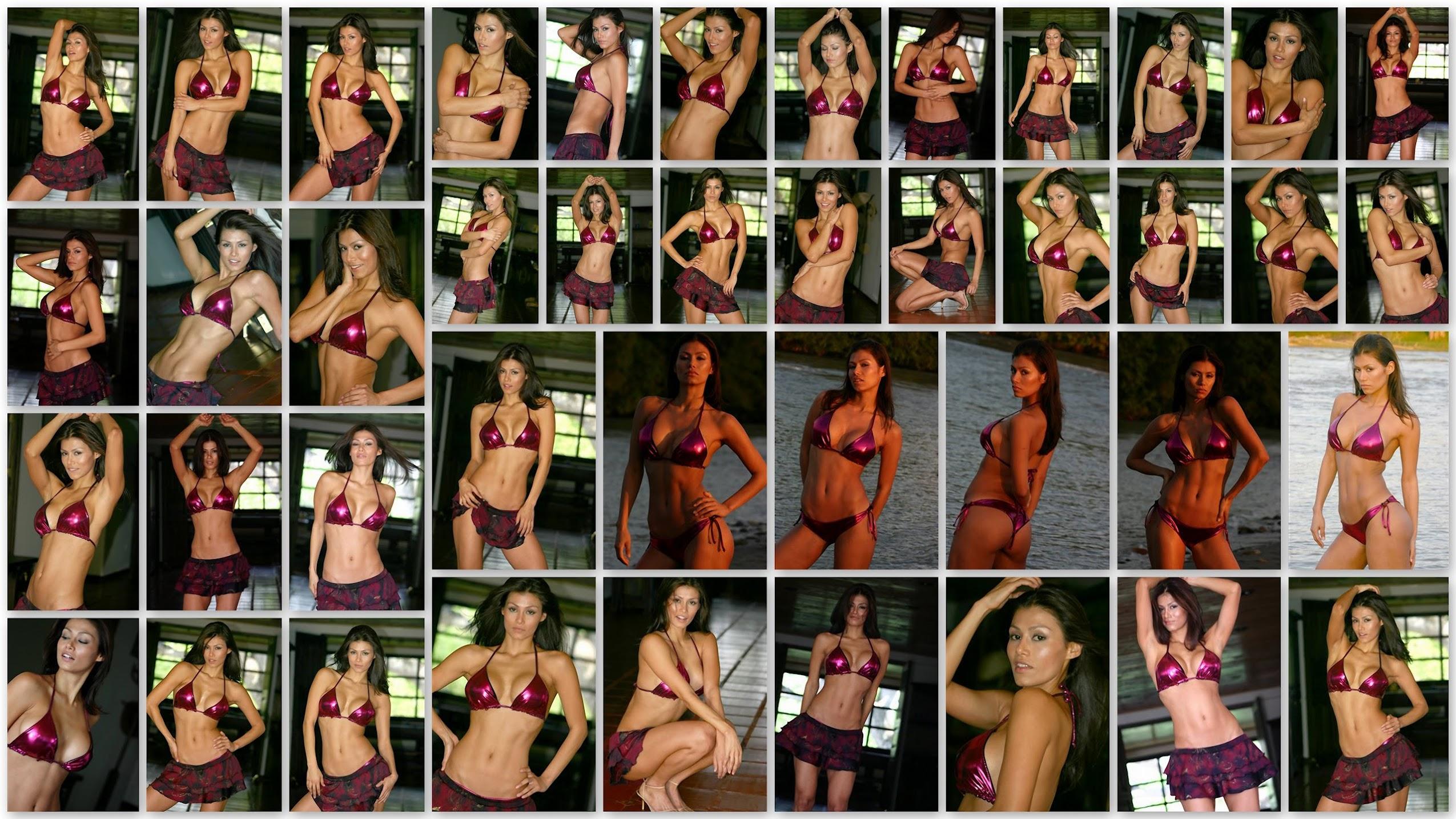 Renata Gonzalez Fotos En Bikini Morado Con Minifalda Foto 1