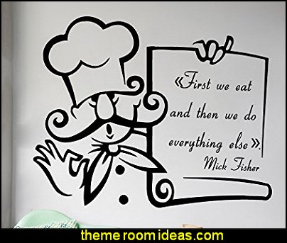 First We Eat And Then We Do Everything Else Home Vinyl Decal Sticker