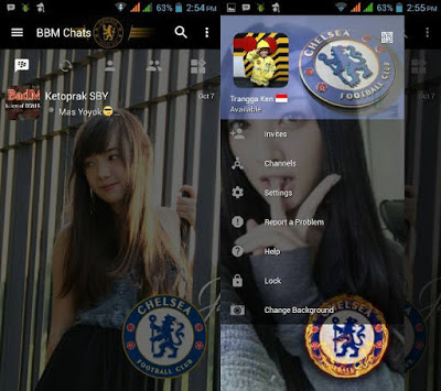 BBM Change Background With Chelsea v3.0.1.25 MOD APK