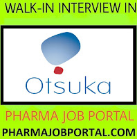 Otsuka Pharmaceuticals Walk In For Multiple Positions For  FRESHERS, Quality Control, Quality Assurance, Production, Packing at 27 October