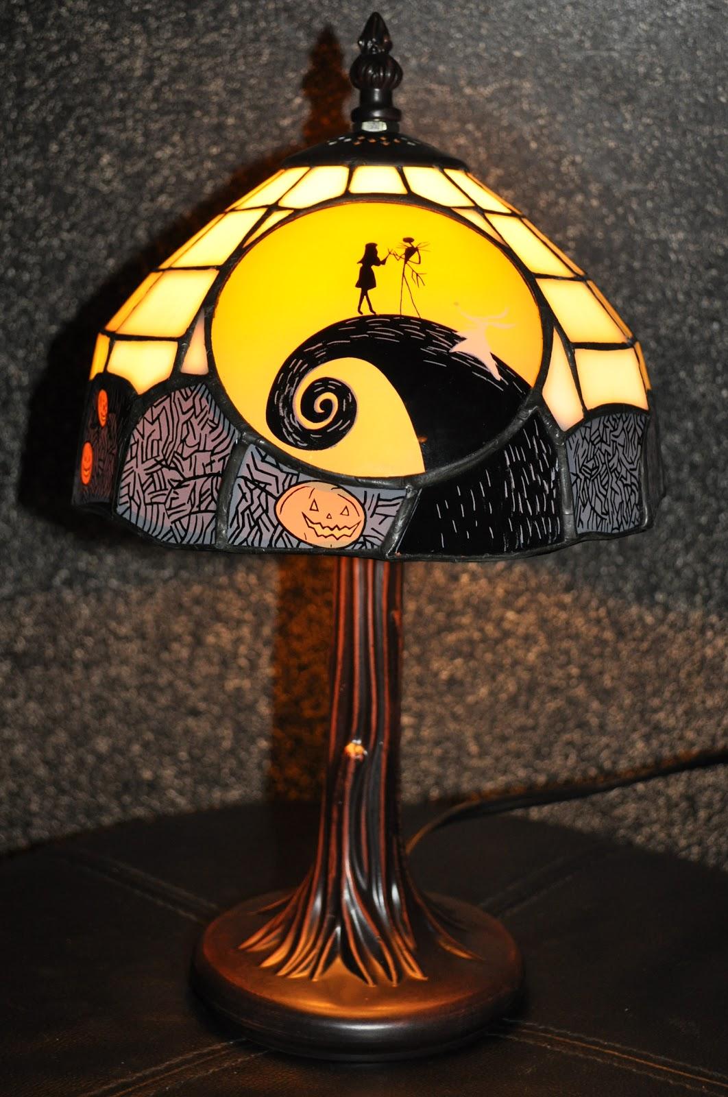 Disney Pixar Fanatics: Nightmare Before Christmas Tiffany Lamp