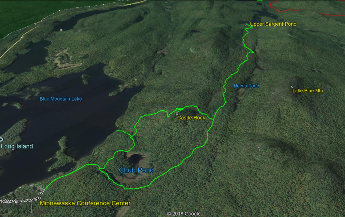 the castle rock and upper sargent pond trails
