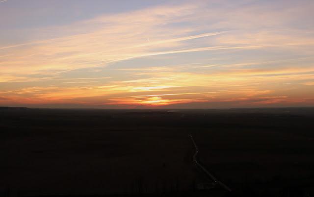 Puesta del sol en Urueña