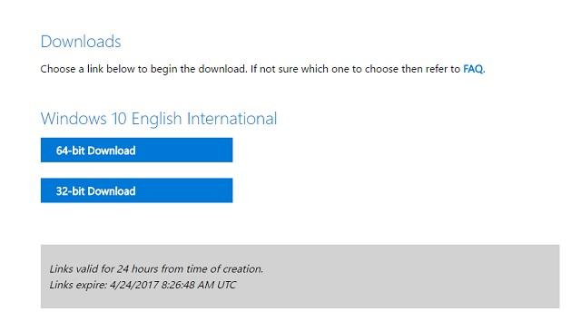 Cara download File ISO Windows 10 Creators Update langsung dari server Microsoft