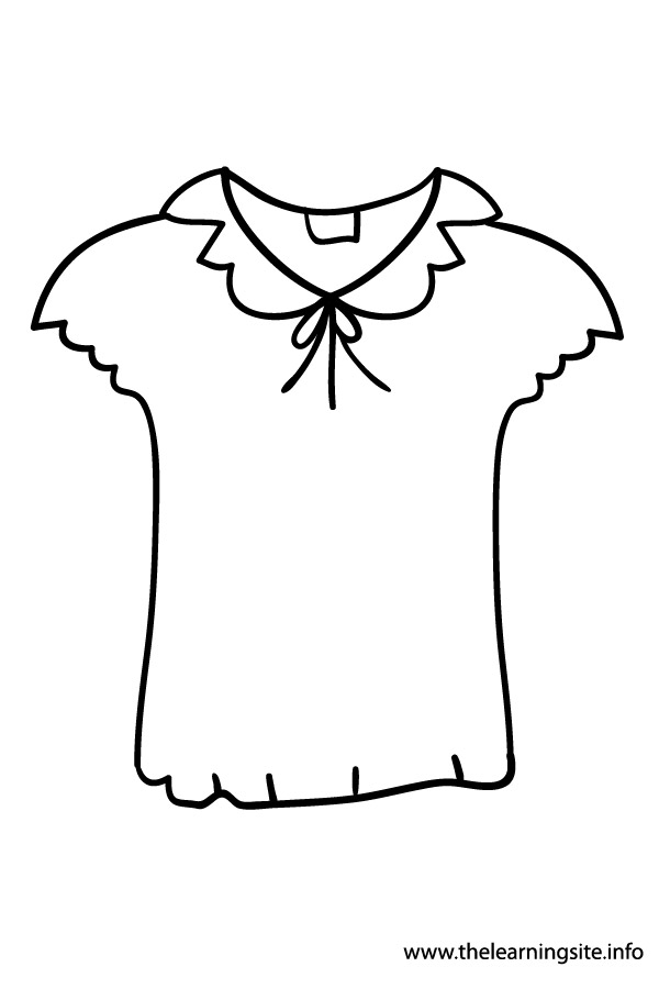 Blouse Coloring Pages Sketch Coloring Page