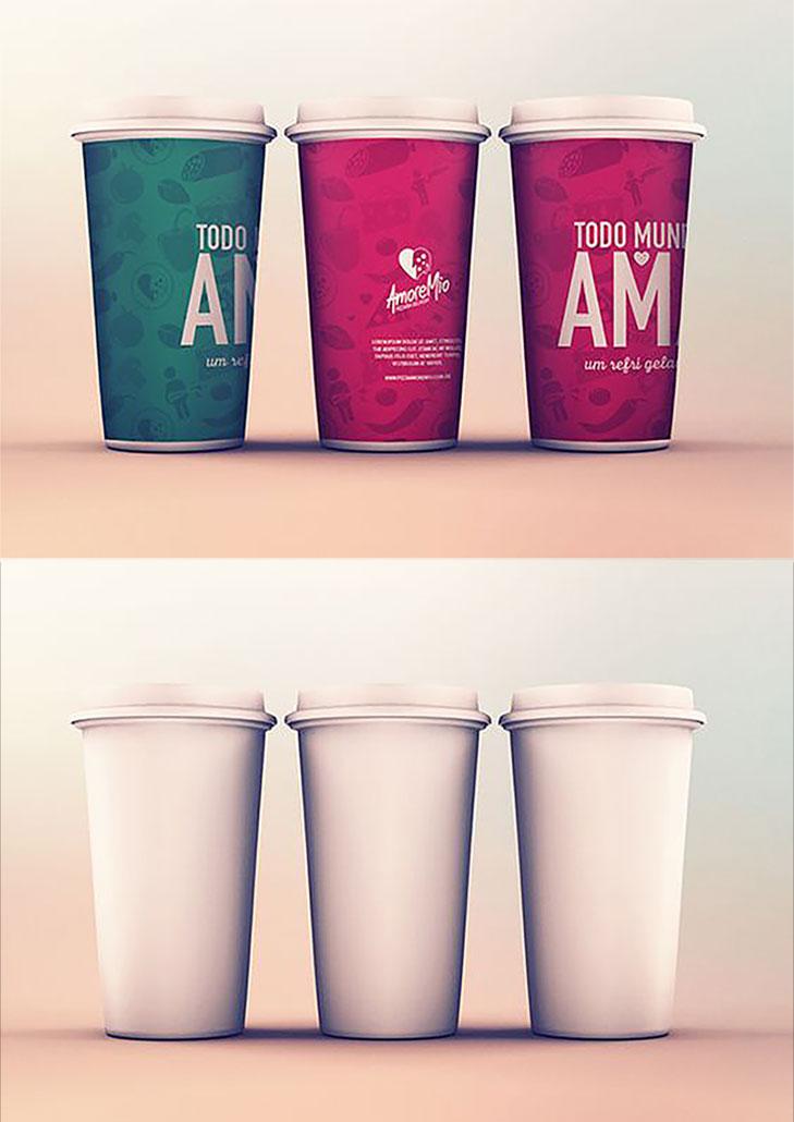 Cups Mockup PSD Template