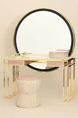 metal dressing table with large mirror for ultra luxury modern bedrooms