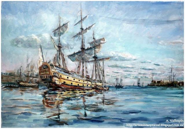 Pintura al oleo del Glorioso en la Habana