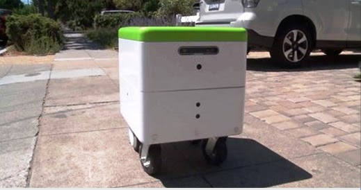Self-driving delivery robots undergoes road tests in US