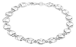 SPECIAL VALENTINE SWEET DEALS £10.94 Tuscany Silver Sterling Silver Heart Oval Link Bracelet 19cm 7.5″ LIMITED HOURS