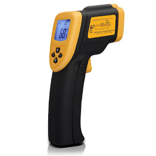 infrared scanner to check brew temperature