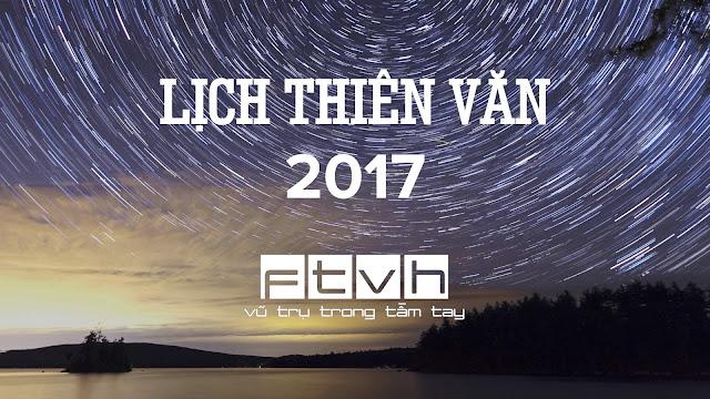 Lịch thiên văn Ftvh năm 2017