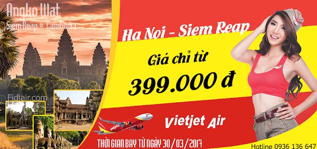 Vé máy bay giá rẻ đi Xiêm Riệp - Campuchia