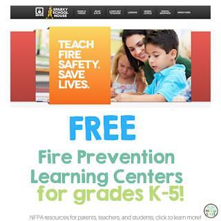 October is Fire Prevention Month; Teach fire safety and literacy skills with these free resources from @NFPA #hellomrssykes #ad