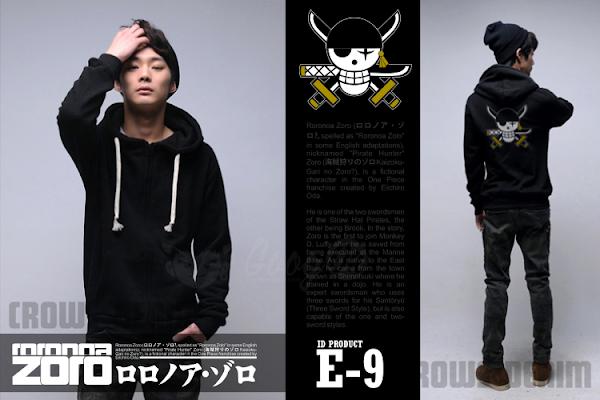 jas exclusive e9 jaket anime  onepiece roronoa zoro