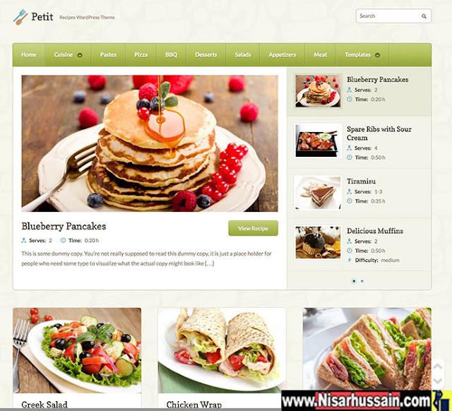CookBook Food Magazine Blog Premium Theme
