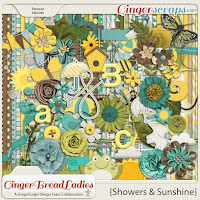Kit : Showers & Sunshine by GingerScraps designers
