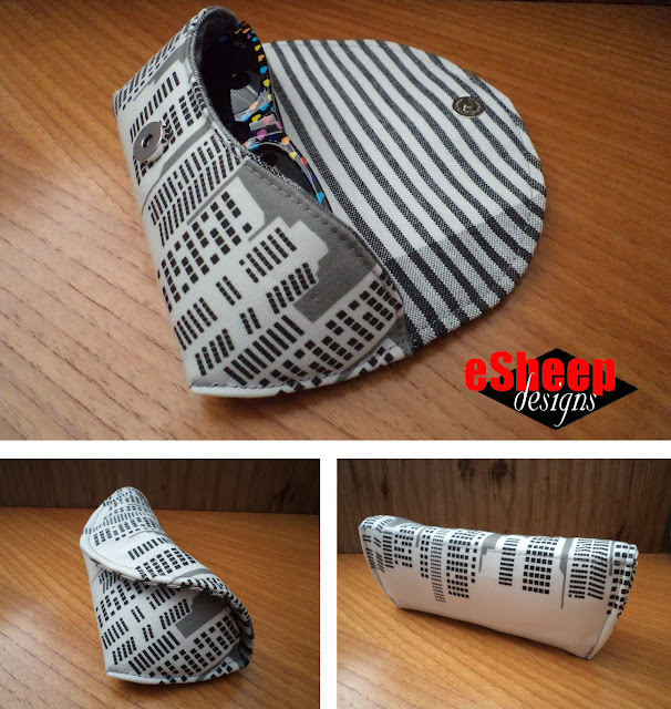 Sunglasses Case featuring Winter in the City fabric by eSheep Designs