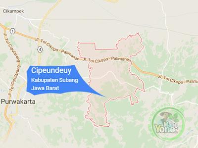 PETA : Kecamatan Cipeundeuy, Kabupaten Subang, Jawa Barat