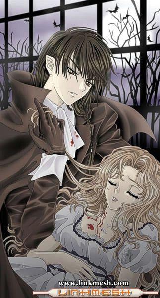 Anime Wallpaper Girls Hair Blonde Eyes Purple Tenshi O Sutete Anime Vampiros