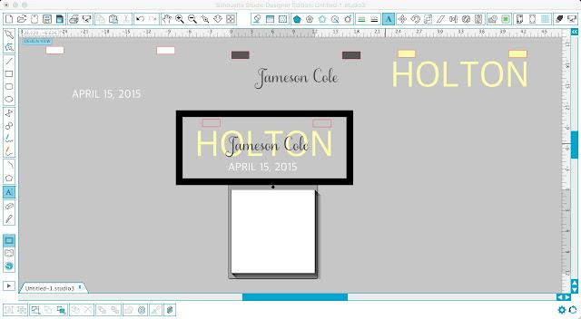Silhouette tutorial, vinyl, floating glass frame, Silhouette Cameo