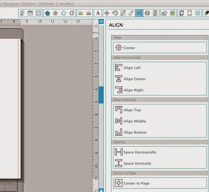 Silhouette Studio, align tool, Silhouette tutorial