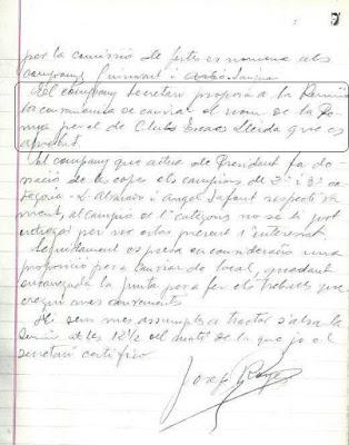 Segunda parte del Acta de 10 de Junio de 1934 del Club d'Escacs Lleida