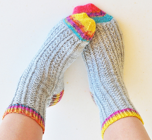 Froot Loop Socks Free Knitting Pattern