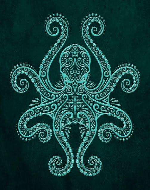 Lovely Octopus Tattoo Designs