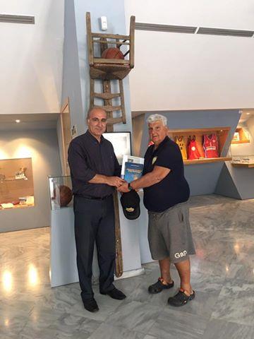 Ο Στράτος Κουκουλεκίδης στο μουσείο της ΧΑΝΘ-Φωτορεπορτάζ