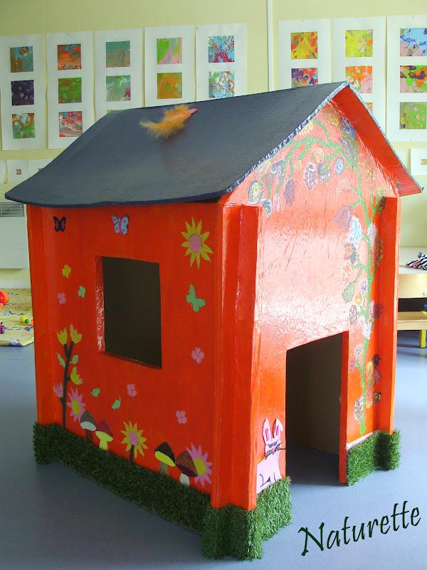 naturette cabane en carton. Black Bedroom Furniture Sets. Home Design Ideas