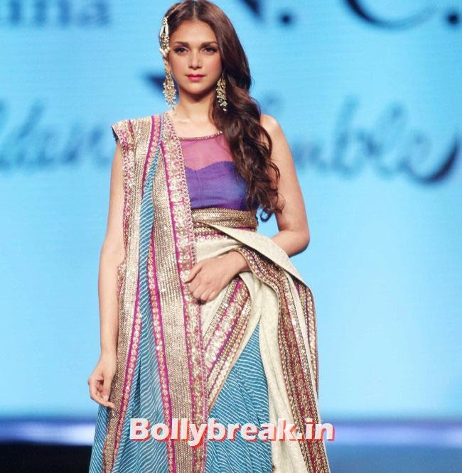 Aditi Rao, Beautiful Bhagyashree, Gauhar, Tara, Perizad, Divya at Cancer Fundraiser Fashion Show