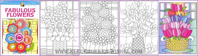 kleurboek bloemen, fabulous flowers