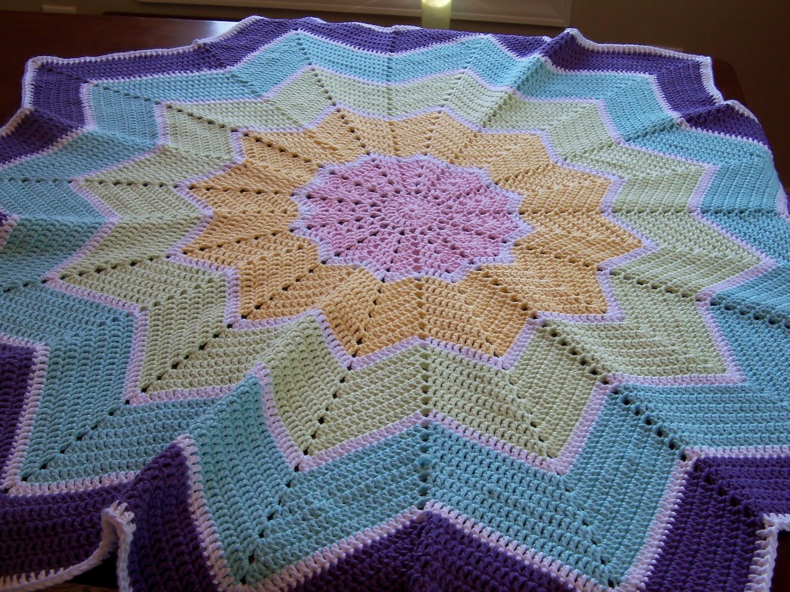 Pocketful Of Dreams Rainbow Ripple Baby Blanket Pattern