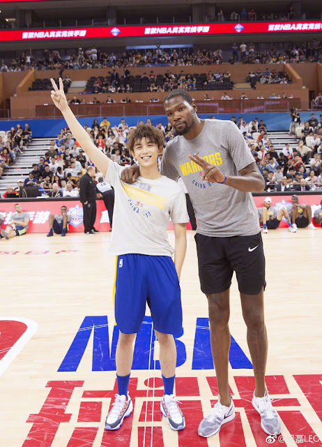 NBA Appreciation Day Wu Lei Kevin Durant