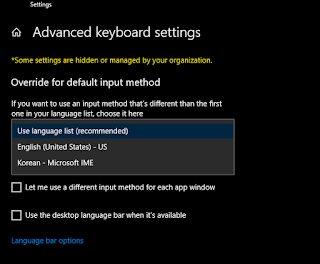 Typing in Korean on Windows 10