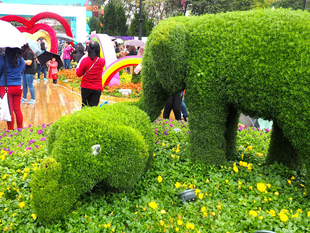 Elephant topiaries at Hong Kong Flower Festival 2017