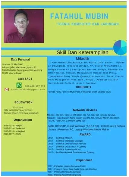 Contoh CV PKL SMK TKJ