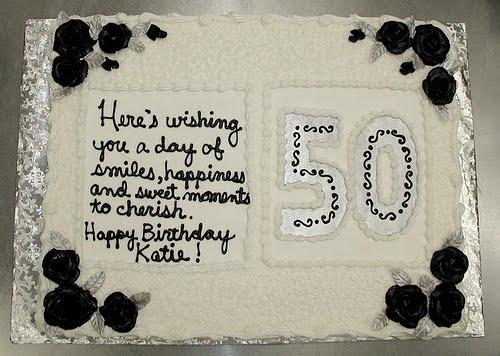 50th birthday cake ideas