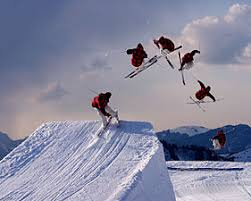 back flip in terrain snow park