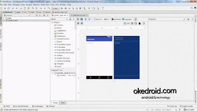 Tampilan Hello World Android Studio