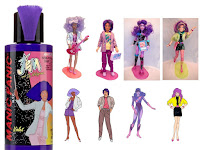 jem holograms manic panic shana rio violet purple synergy clash dolls hair dye