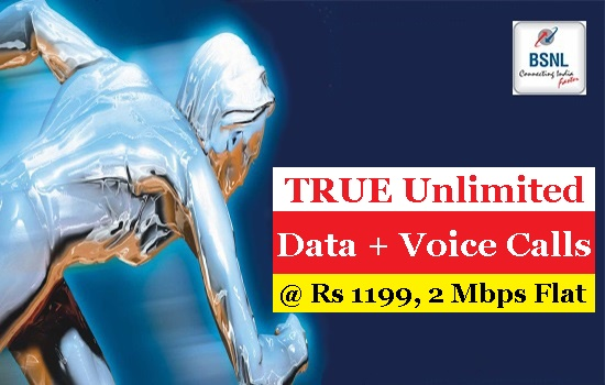 BSNL launches new Unlimited Broadband plan 'BBG Combo ULD 1199' with 2Mbps flat download speed and  24 Hrs. unlimited free calls (local + STD) to any network in India