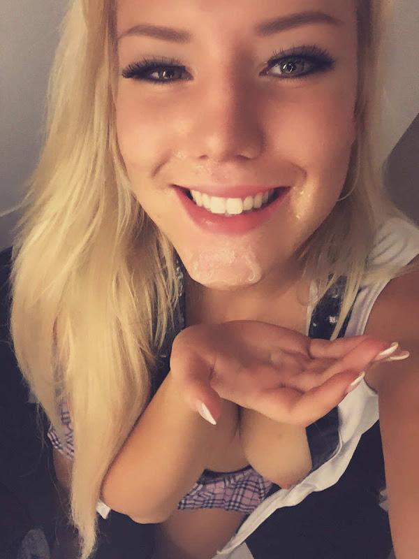 girlfriend facial cumshot