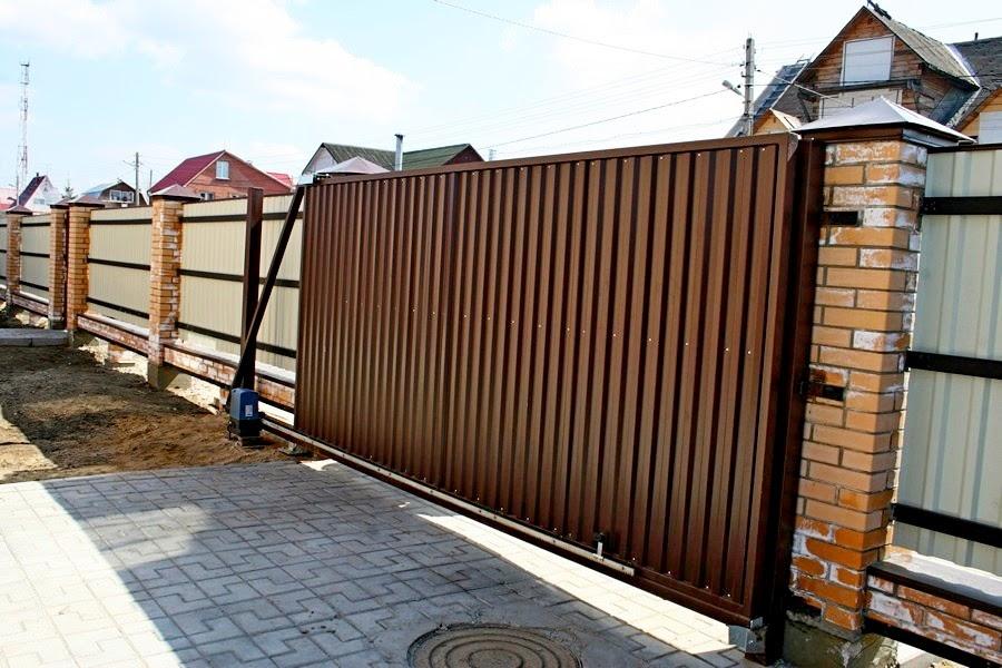 Ворота откатные с электроприводом цена