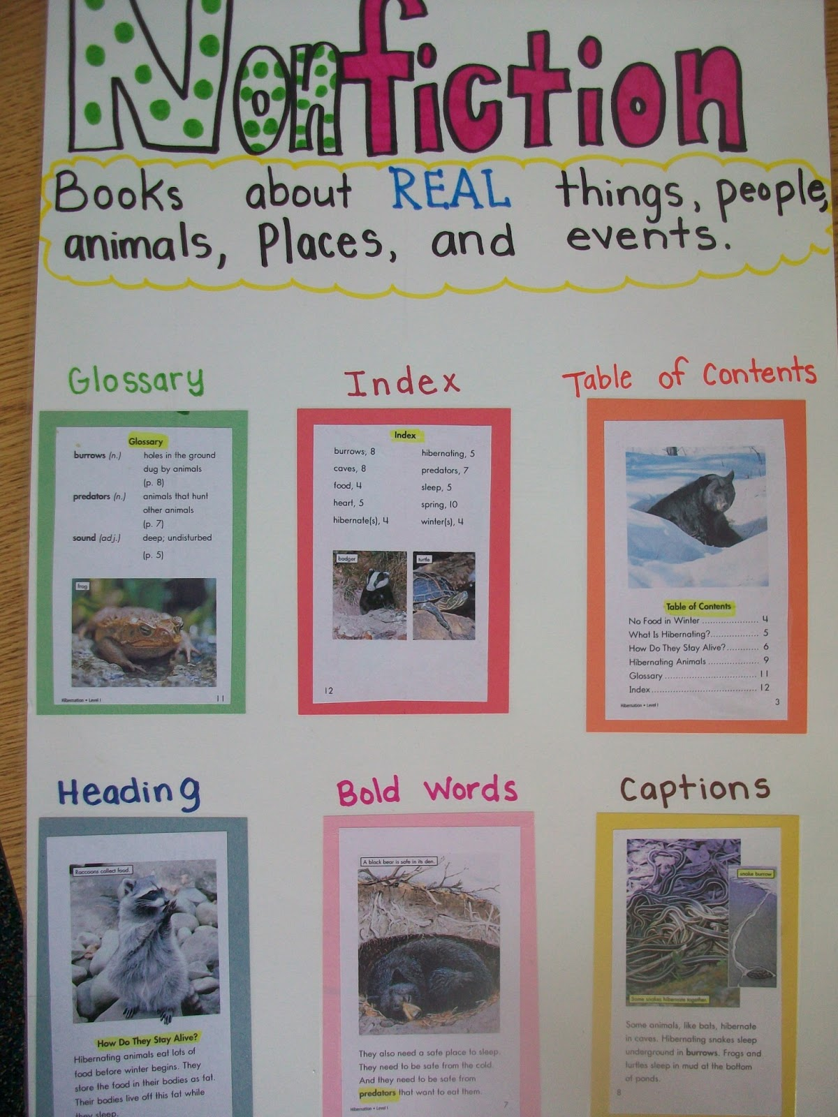 feature writing activity for first grade
