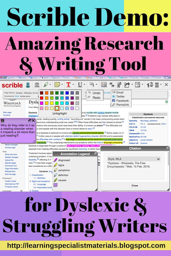Scrible: Amazing Annotating Writing Tool for Dyslexic and