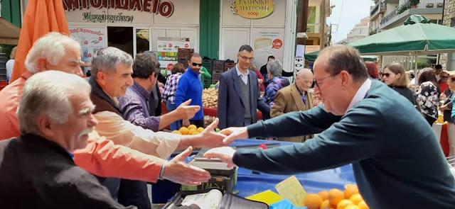 Θερμά υποδέχθηκαν τον Π. Νίκα οι κάτοικοι της Τρίπολης