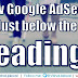 Show AdSense Ads Just After Headings (H2, H3 and H4) in Blogger