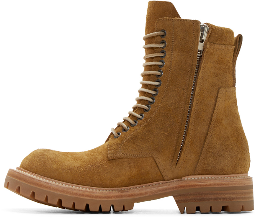 rick owens yellow suede goodyear flex boots Boots Spring Summer 2016